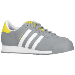 adidas Originals Samoa - Boys' Grade School - Tech Grey/Vivid Yellow/Black