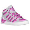 adidas Originals Hard Court Hi - Girls' Grade School - Grey / Pink