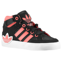 adidas Originals Hard Court Hi - Girls' Toddler - Black / Pink