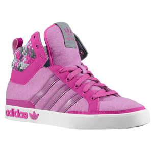 adidas Originals Top Court Hi - Women's - Vivid Pink/Iron