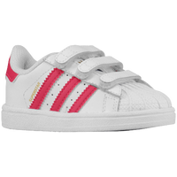 adidas Originals Superstar - Girls' Toddler - White / Pink