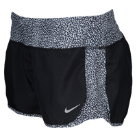 Nike Dri-FIT Crew Shorts - Women's - Black / Grey