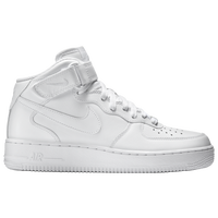 Nike Air Force 1 Mid - Men's - All White / White