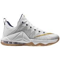 Nike LeBron 12 Low - Men's -  Lebron James - White / Navy