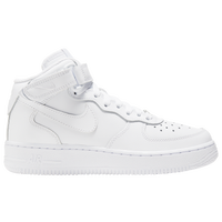 Nike Air Force 1 Mid - Boys' Grade School - All White / White