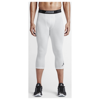 Jordan AJ All Season Compression 3/4 Tights - Men's - White / Black