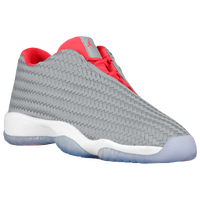Jordan AJ Future Low - Boys' Grade School - Grey / Red