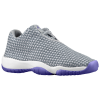 Jordan AJ Future - Girls' Grade School - Grey / Purple