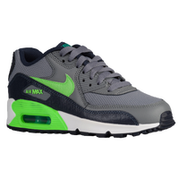 Nike Air Max 90 - Boys' Preschool - Grey / Light Green