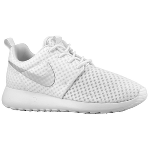 Nike Roshe Run - Women's - White/Metallic Platinum