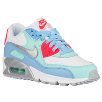 Nike Air Max 90 - Girls' Grade School - White / Light Blue