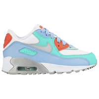 Nike Air Max 90 - Girls' Preschool - White / Light Blue