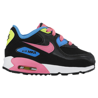 Nike Air Max 90 - Girls' Toddler - Black / Pink