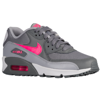 Nike Air Max 90 - Girls' Grade School - Grey / Pink