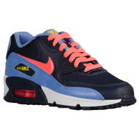 Nike Air Max 90 - Girls' Grade School - Navy / Orange