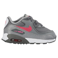Nike Air Max 90 - Girls' Toddler - Grey / Pink