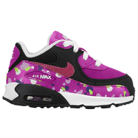 Nike Air Max 90 - Girls' Toddler - Purple / Black