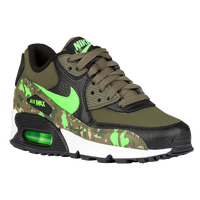 Nike Air Max 90 - Boys' Preschool - Black / Olive Green