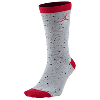 Jordan Retro 4 Crew Socks - Men's - Grey / Red