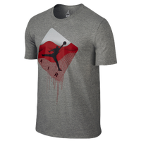 Jordan Taglines T-Shirt - Men's - Grey / Red