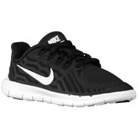 Nike Free 5.0 2015 - Boys' Preschool - Black / White