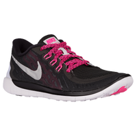 Nike Free 5.0 2015 - Girls' Grade School - Black / Pink