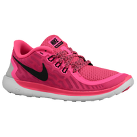 Nike Free 5.0 2015 - Girls' Grade School - Pink / White