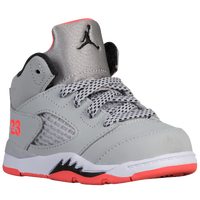 Jordan Retro 5 - Girls' Toddler - Grey / Black