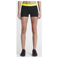 "Nike Pro 3"" Cool Shorts - Women's - Black / Light Green"