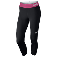 Nike Pro Cool Capris - Women's - Black / Pink