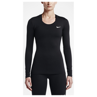 Nike Pro Cool Longsleeve - Women's - All Black / Black