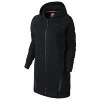 Nike Tech Fleece Cocoon Mesh F/Z Hoodie - Women's - All Black / Black