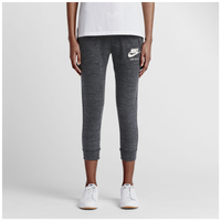 Nike Gym Vintage Capris - Women's - Grey / Off-White