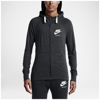 Nike Gym Vintage Full Zip Hoodie - Women's - Grey / Off-White