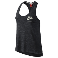 Nike Gym Vintage Tank - Women's - Grey / Off-White