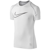 Nike Pro Hypercool FTD Compression S/S Top - Boys' Grade School - White / Grey