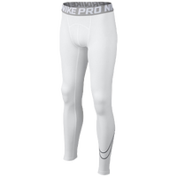 Nike Pro Cool Comp Tights - Boys' Grade School - White / Grey
