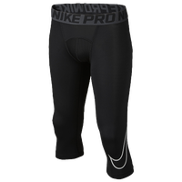 Nike Pro Compression 3/4 Tights - Boys' Grade School - Black / White