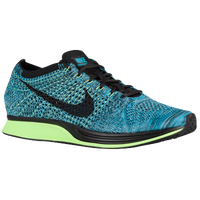 Nike Flyknit Racer - Men's - Light Blue / Black