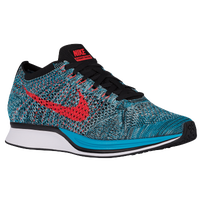 Nike Flyknit Racer - Men's - Light Blue / Red