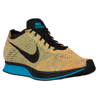 Nike Flyknit Racer - Men's - Orange / Black