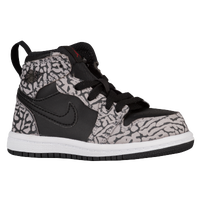Jordan AJ 1 High - Boys' Toddler - Black / Grey