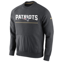 Nike NFL Champ Drive Hybrid Crew - Men's - New England Patriots - Grey / White