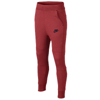 Nike Tech Fleece Pants - Boys' Grade School - Red / Navy