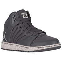 Jordan 1 Flight 4 - Boys' Grade School - Grey / Grey