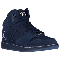 Jordan 1 Flight 4 - Boys' Grade School - Navy / Navy