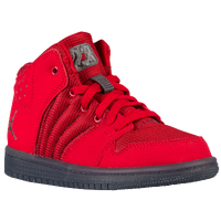 Jordan 1 Flight 4 - Boys' Preschool - Red / Grey