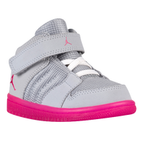 Jordan 1 Flight 4 - Girls' Toddler - Grey / Pink
