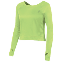 ASICS� Long Sleeve Crop Fleece - Women's - Light Green / Light Green