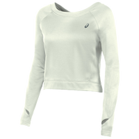 ASICS� Long Sleeve Crop Fleece - Women's - All White / White